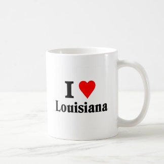 I love louisiana classic white coffee mug