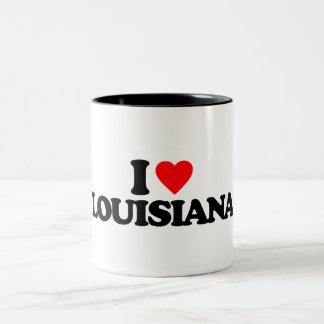 I LOVE LOUISIANA Two-Tone COFFEE MUG