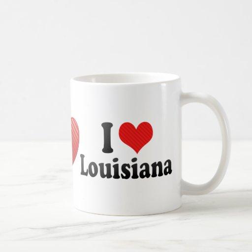 I Love  Louisiana Mugs