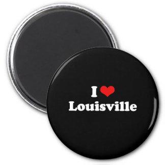 I LOVE LOUISVILLE 6 CM ROUND MAGNET
