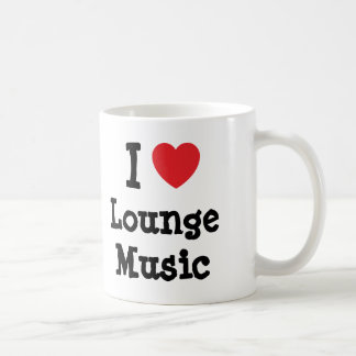I love Lounge Music heart custom personalized Mugs