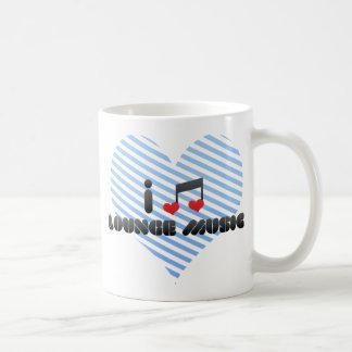 I Love Lounge Music Coffee Mugs