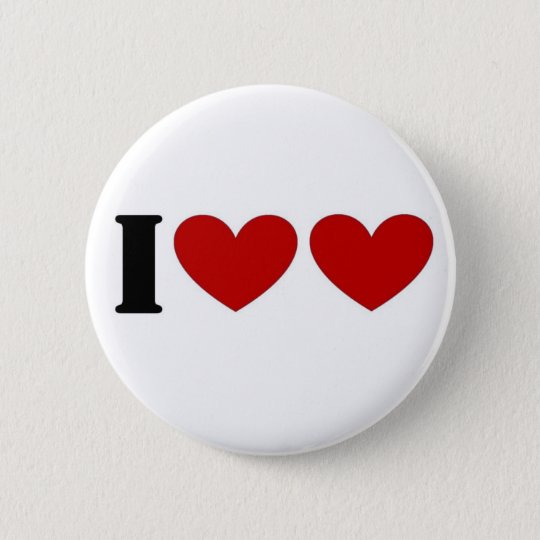 I Love Love 6 Cm Round Badge