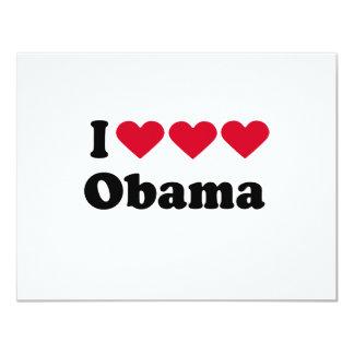 I Love Love Love Obama T-shirt Personalized Invite