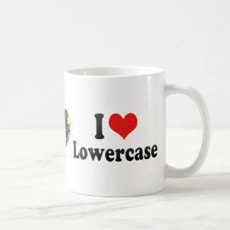 I Love Lowercase Coffee Mugs