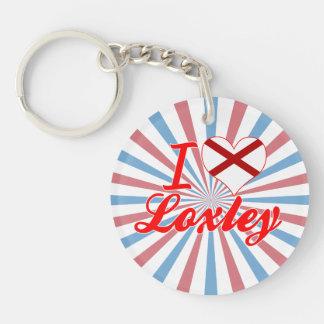 I Love Loxley, Alabama Single-Sided Round Acrylic Key Ring