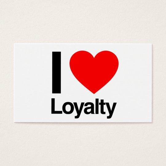 i love loyalty business card