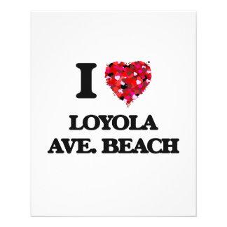 I love Loyola Ave. Beach Illinois 11.5 Cm X 14 Cm Flyer
