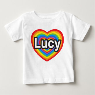 I love Lucy. I love you Lucy. Heart Baby T-Shirt