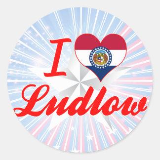 I Love Ludlow, Missouri Stickers