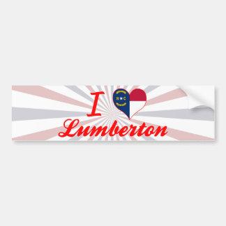 I Love Lumberton, North Carolina Bumper Sticker