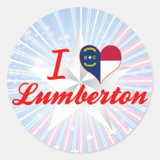 I Love Lumberton, North Carolina Round Sticker