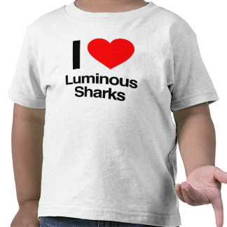 i love luminous sharks tshirts