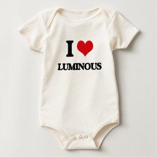 I Love Luminous Baby Bodysuits