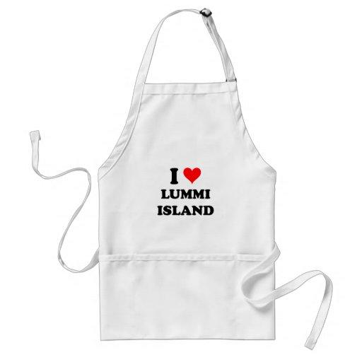 I Love Lummi Island Washington Apron