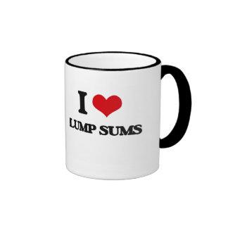 I Love Lump Sums Coffee Mugs