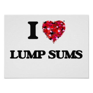 I Love Lump Sums Poster