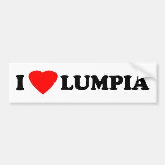 I Love Lumpia Bumper Sticker
