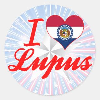 I Love Lupus, Missouri Round Stickers