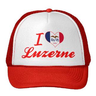 I Love Luzerne, Iowa Mesh Hat