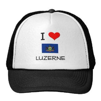 I Love Luzerne Pennsylvania Mesh Hats