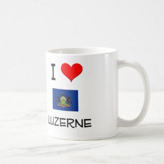 I Love Luzerne Pennsylvania Coffee Mugs