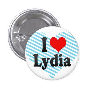 I love Lydia 3 Cm Round Badge