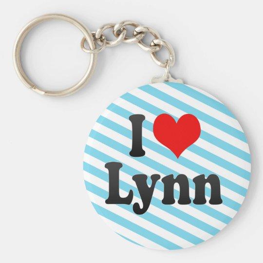 I Love Lynn, United States Basic Round Button Key Ring