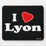 I Love Lyon Mouse Pad