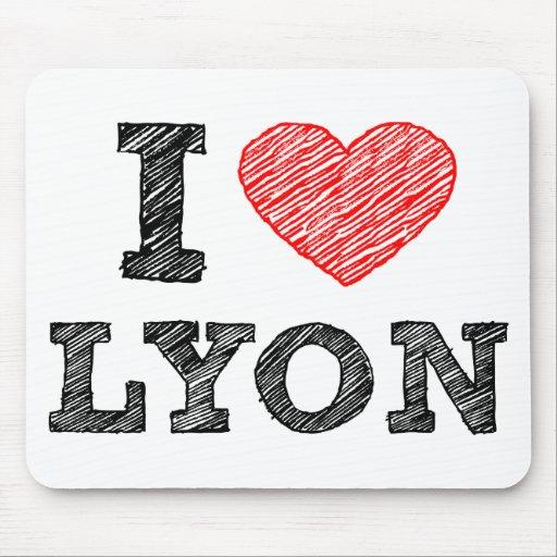 I Love Lyon Mousepad