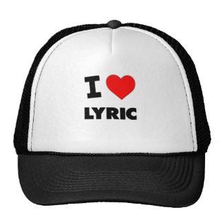 I Love Lyric Mesh Hat