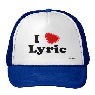I Love Lyric Mesh Hats