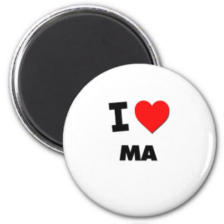 I Love Ma 6 Cm Round Magnet