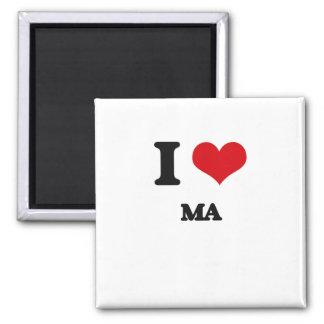 I Love Ma Square Magnet