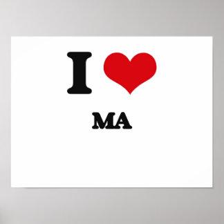 I Love Ma Print