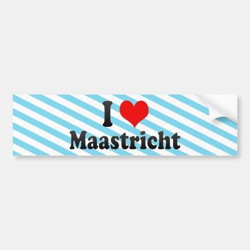 I Love Maastricht, Netherlands Bumper Stickers