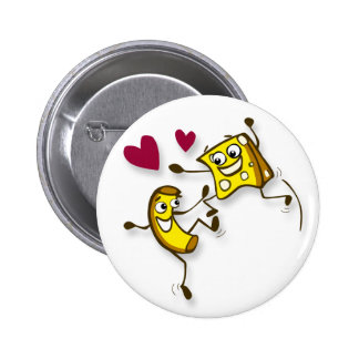 I love mac and cheese 6 cm round badge