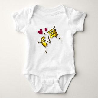 I love mac and cheese baby bodysuit