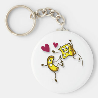I love mac and cheese basic round button key ring