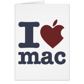 I Love Mac Greeting Card