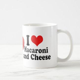 I Love Macaroni+and Cheese Basic White Mug