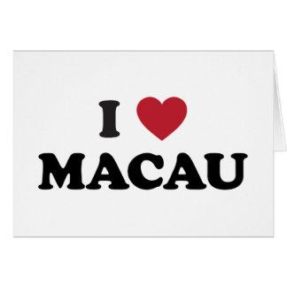 I Love Macau Greeting Card