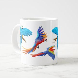 I Love Macaw Parrots Jumbo Mug