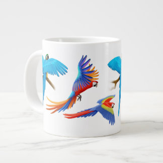 I Love Macaw Parrots Large Coffee Mug