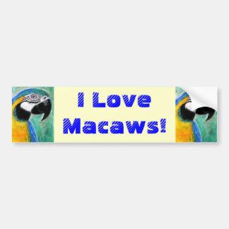 I Love Macaws! Bumper Sticker