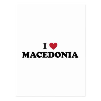 I Love Macedonia Postcard