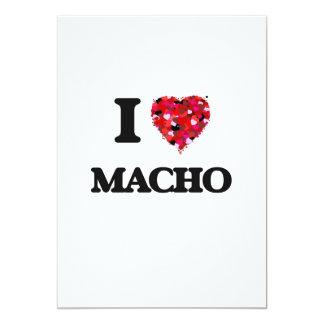 I Love Macho 13 Cm X 18 Cm Invitation Card
