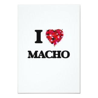 I Love Macho 9 Cm X 13 Cm Invitation Card