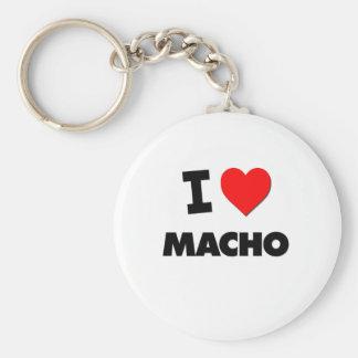I Love Macho Keychains