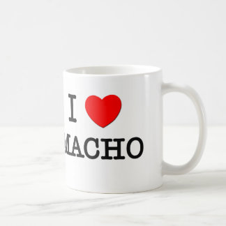 I Love Macho Coffee Mugs